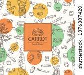 background with carrot  full... | Shutterstock .eps vector #1376387420
