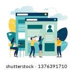 vector illustration  small... | Shutterstock .eps vector #1376391710
