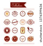 a set of food badges stickers ... | Shutterstock .eps vector #1376399636