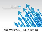 pointing arrows   eps10... | Shutterstock .eps vector #137640410