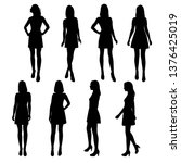 Set Of Vector Silhouettes ...