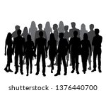 vector silhouette people  group ... | Shutterstock .eps vector #1376440700
