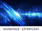 abstract futuristic digital... | Shutterstock .eps vector #1376441333