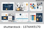 brochure creative design.... | Shutterstock .eps vector #1376445170