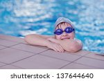happy chid have fun on swimming ... | Shutterstock . vector #137644640