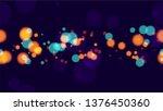 defocused night city landscape... | Shutterstock .eps vector #1376450360