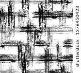 checkered seamless halftone...   Shutterstock .eps vector #1376450423