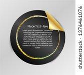 gradient tag  peel off sticker  ... | Shutterstock .eps vector #1376461076