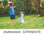 Preschooler Kid Boy Doing Dog...