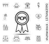 women's day  reward  mom icon....