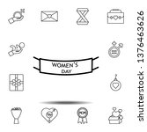 women's day  tape icon. simple...