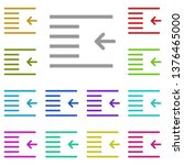 outdent  text multi color icon. ...