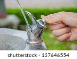 Thumb Press The Drinking Water...