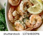 shrimp scampi with lemon in a...   Shutterstock . vector #1376483096