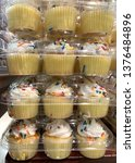 cupcakes with sprinkles...   Shutterstock . vector #1376484896