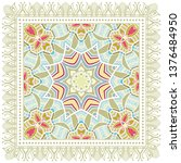 decorative colorful ornament on ... | Shutterstock .eps vector #1376484950