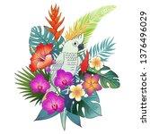 beautiful tropical exotic... | Shutterstock .eps vector #1376496029