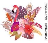 beautiful tropical exotic... | Shutterstock .eps vector #1376496053