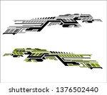 vinyls sticker set decals for... | Shutterstock .eps vector #1376502440