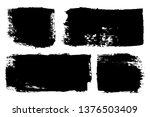 grunge brush painted spots.... | Shutterstock .eps vector #1376503409