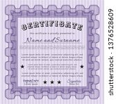 violet diploma template or...   Shutterstock .eps vector #1376528609