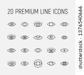 eye related vector icon set.... | Shutterstock .eps vector #1376540666