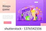 lottery money game  lucky... | Shutterstock .eps vector #1376542106