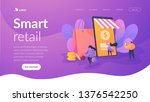 smart retail  retail mobility... | Shutterstock .eps vector #1376542250