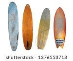 vintage surfboard isolated on... | Shutterstock . vector #1376553713