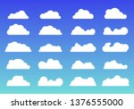 set of white clouds icons...