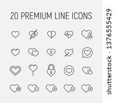 heart related vector icon set.... | Shutterstock .eps vector #1376555429