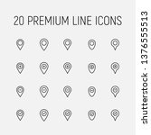 map pins related vector icon... | Shutterstock .eps vector #1376555513