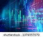 financial stock market graph...   Shutterstock . vector #1376557070