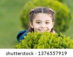playful little girl with trendy ... | Shutterstock . vector #1376557919