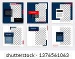 editable modern minimal square... | Shutterstock .eps vector #1376561063