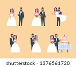 set just married man woman... | Shutterstock .eps vector #1376561720