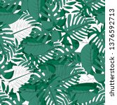 seamless pattern with tropical... | Shutterstock .eps vector #1376592713