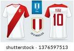 set of soccer jersey or... | Shutterstock .eps vector #1376597513