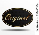 original label | Shutterstock . vector #137660336