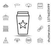 mardi gras  drink icon. simple...