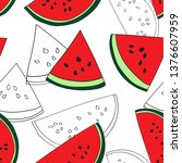 seamless repeat pattern with... | Shutterstock .eps vector #1376607959