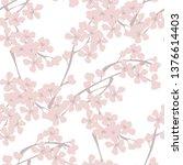 spring blossom vintage seamless ... | Shutterstock .eps vector #1376614403