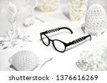 3d printed black glasses among... | Shutterstock . vector #1376616269