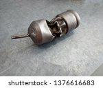 pressure crushed titanium float.... | Shutterstock . vector #1376616683