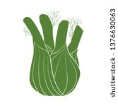 illustration of fennel. vector... | Shutterstock .eps vector #1376630063