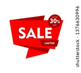 sale offer badge. promo seals... | Shutterstock .eps vector #1376630996