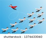 change group of businessman... | Shutterstock .eps vector #1376633060