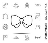 bow butterfly icon. simple thin ...