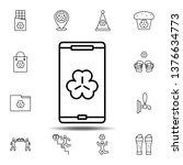 smartphone  shamrock icon....
