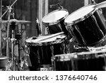 Fragment Of A Drum Set Close Up ...